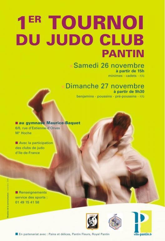1er TOURNOI JUDO CLUB PANTIN