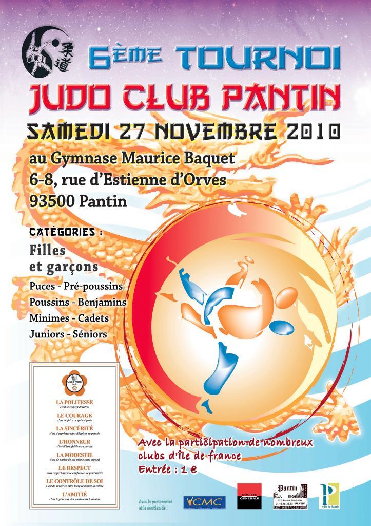 6e TOURNOI JUDO CLUB PANTIN