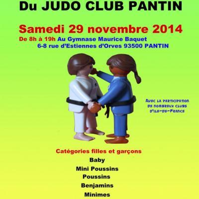 Affiches Tournois Judo Club Pantin