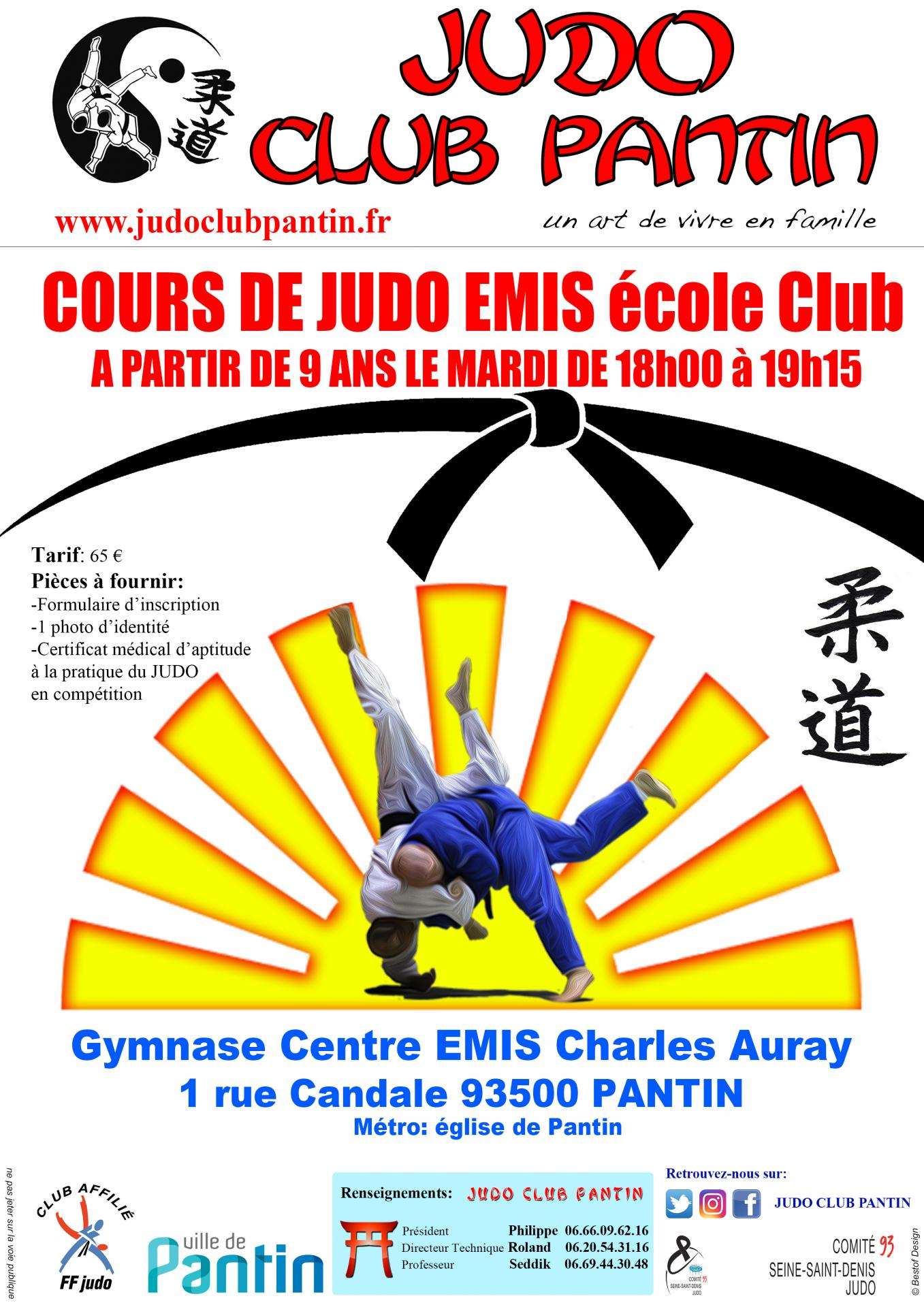 recto AFFICHE A4 CENTRE EMIS ECOLE CLUB 2018-2019