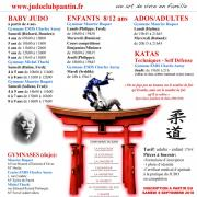 recto AFFICHE A4 JUDO CLUB PANTIN 2018-2019