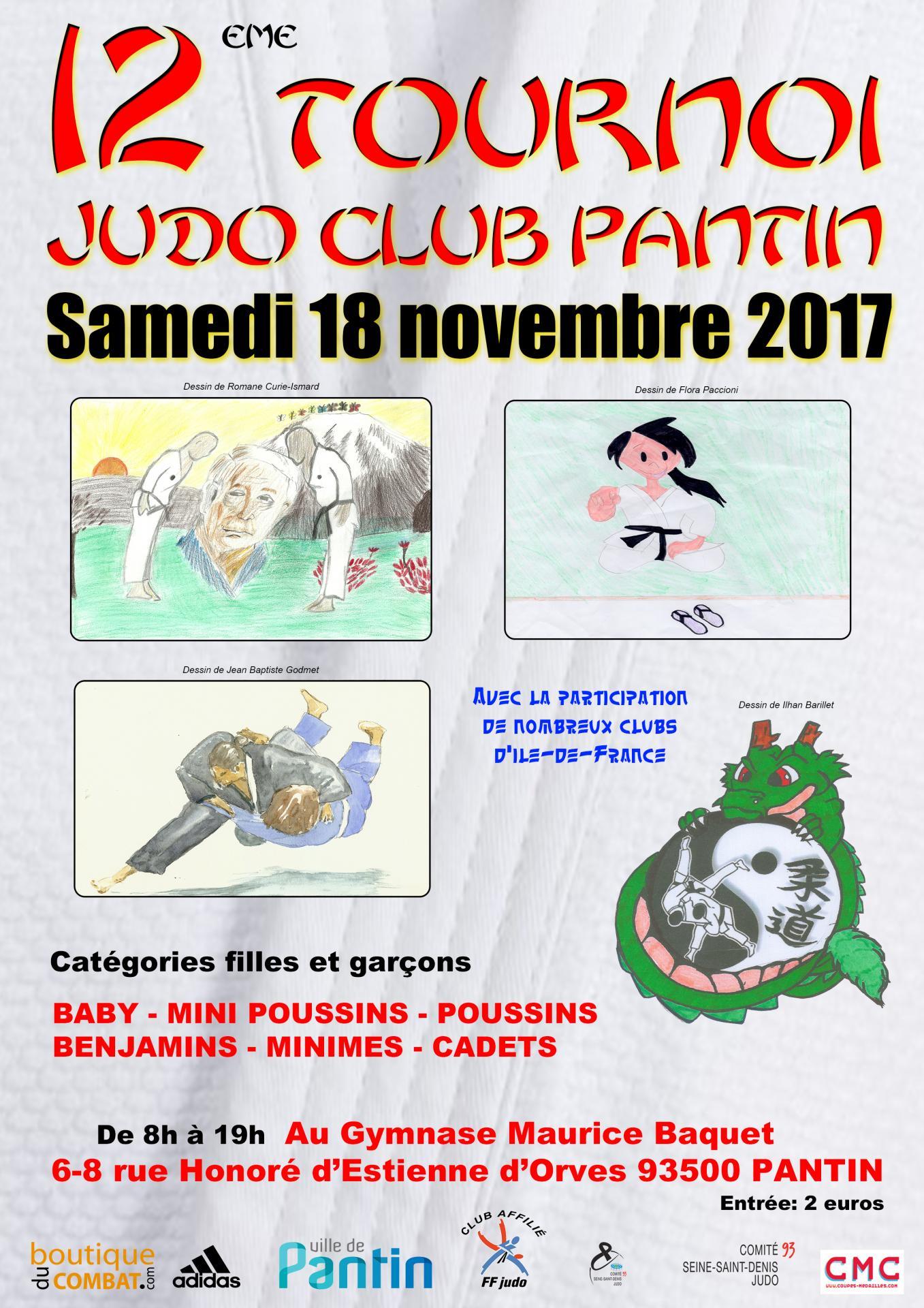 12 eme tournoi a4 2017 judo club pantin