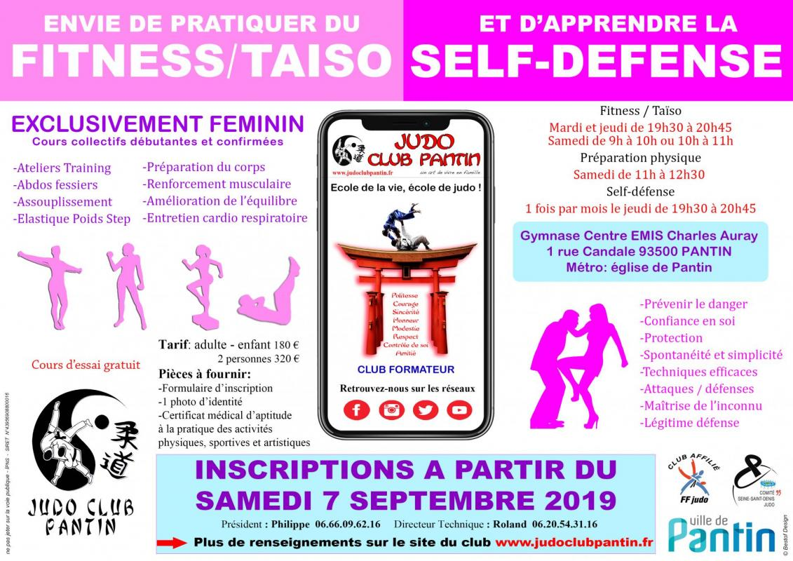 Affiche 2 publicitaire a4 judo club pantin 2019 2022
