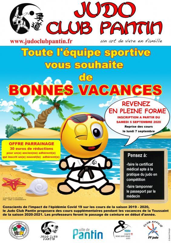 Affiche a4 bonne vacances 2020