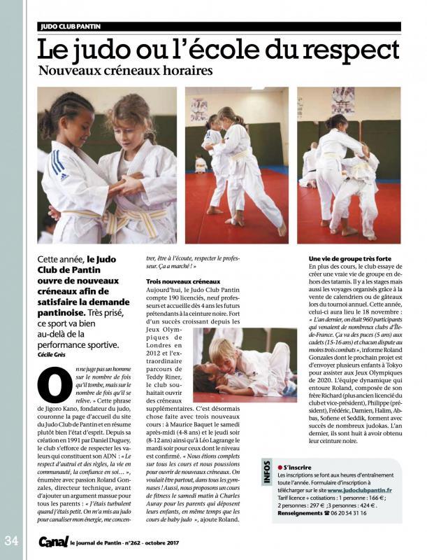 Judo canalpantin oct2017