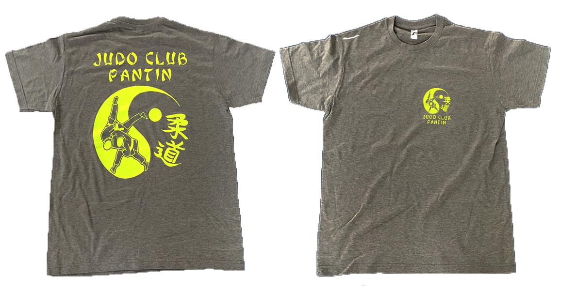 T shirt gris judo club pantin