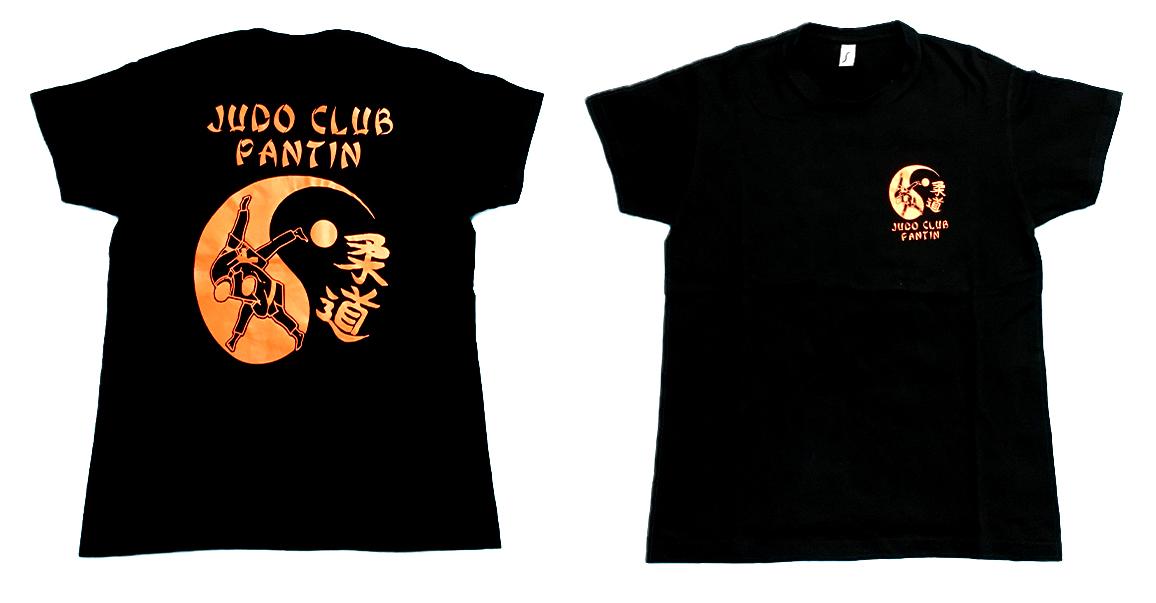T-shirt noir Judo Club Pantin