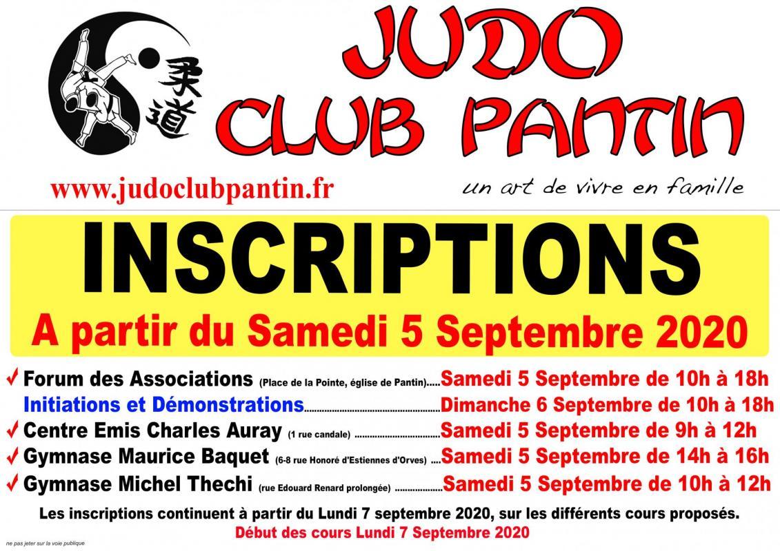 Verso affiche a4 judo club pantin 2020 2021